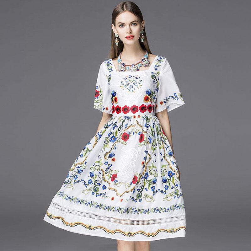 Summer Dress 2016 Bohemia Fashion Brand Runway Short Flare ...