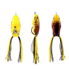 المملكة العائمة الصيد لينة إغراء الضفدع شكل Wobblers الطعم 55 مللي متر 11 جرام/50 مللي متر 8 جرام مع هوك TopWater نموذج LWY43 LWY44(China)