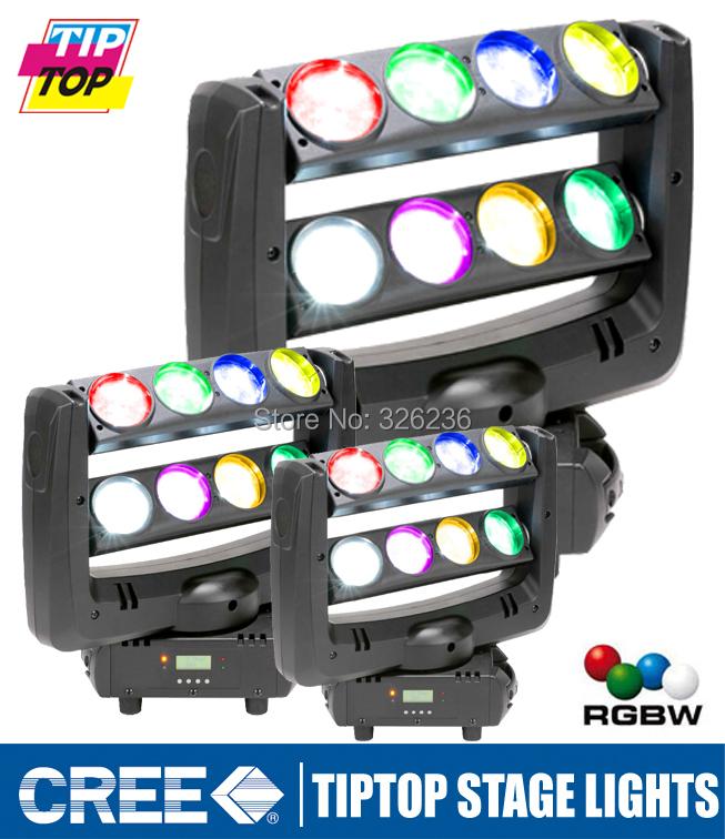 Best Quality 2Pcs/Lot 8pcs*10W Cree Led Spider Moving Beam Light RGBW Led Spider Moving Head Light DMX 512 Control 6/12/36Chs<br><br>Aliexpress