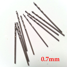 10 Pcs 0.7mm Micro HSS Straight Shank High Speed Steel Mini Twist Drill Bits Electric Drill  Power Tools