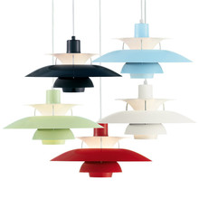 Louis Poulsen PH 5 Pendant Lamps Modern Creative Black/ White/Green /Red  Aluminum Pendant Lamps Free Shipping(China (Mainland))