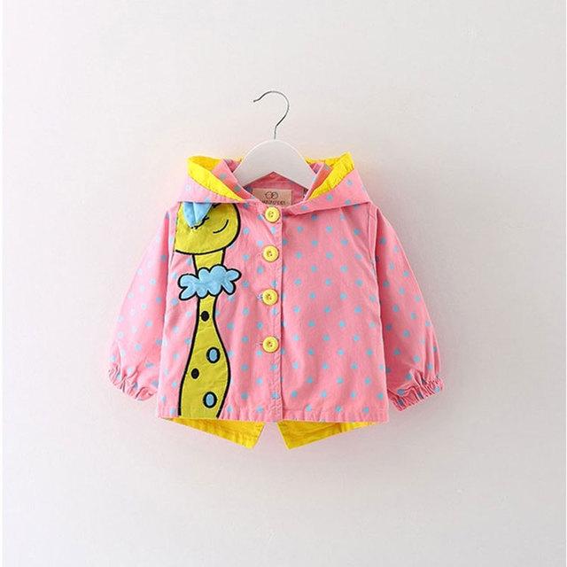 Девочка одежда одежда Весна с длинными рукавами ветровка куртка верхняя одежда для Новорожденных девочек clothing олень Животных Бренд пальто Куртки