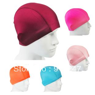 free shipping Small peach swimwear swimming swim cap hat silicone