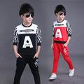boys clothes Autumn children 2016 new boys tracksuit cotton Letter two piece clothing kids clothes suit