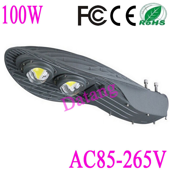 ree shipping 100W led street light AC85-265V IP65 Bridgelux 45mil 130-140LM/W LED 2*50w led street light(China (Mainland))