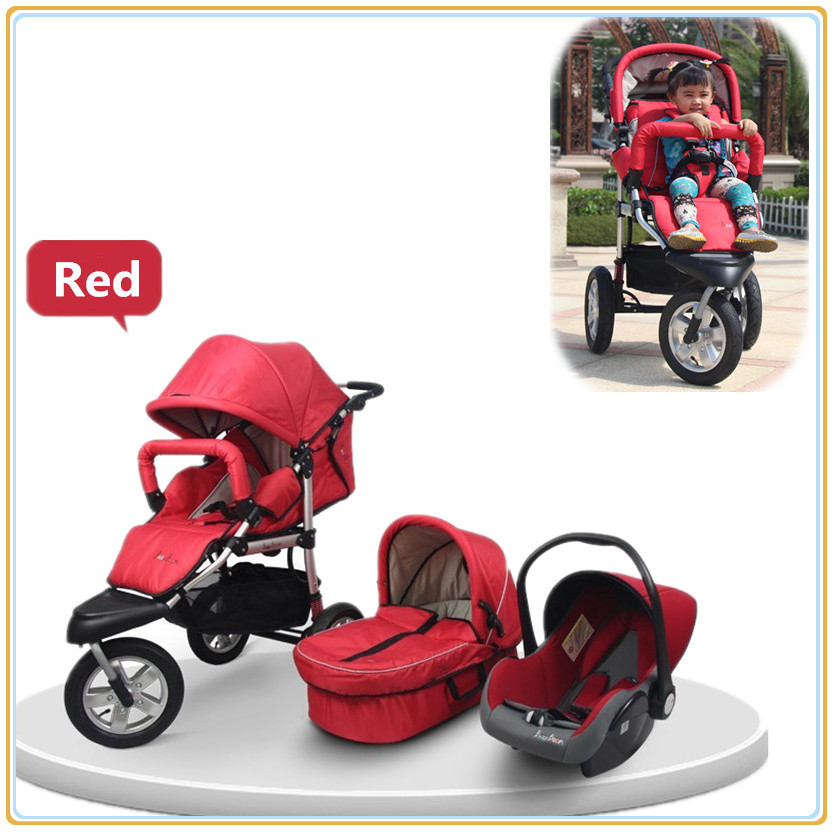 High Landscape Three Wheels Moisquito Net Fashion Baby Car Baby Stroller With Car Seat Sleepping Bassinet 6 Colors Available<br><br>Aliexpress