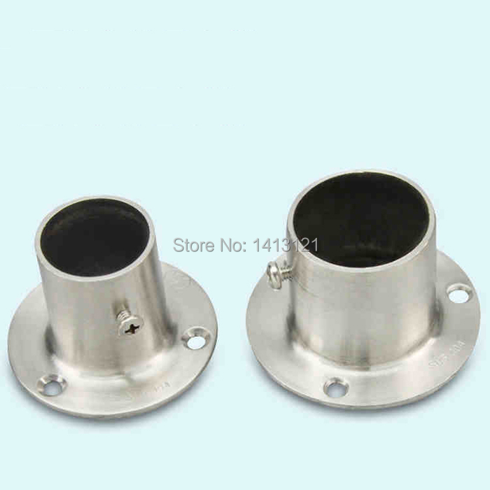 free shipping flange socket thick stainless steel flange curtain cloth rod closet seat tube bracket household furniture hardware<br><br>Aliexpress