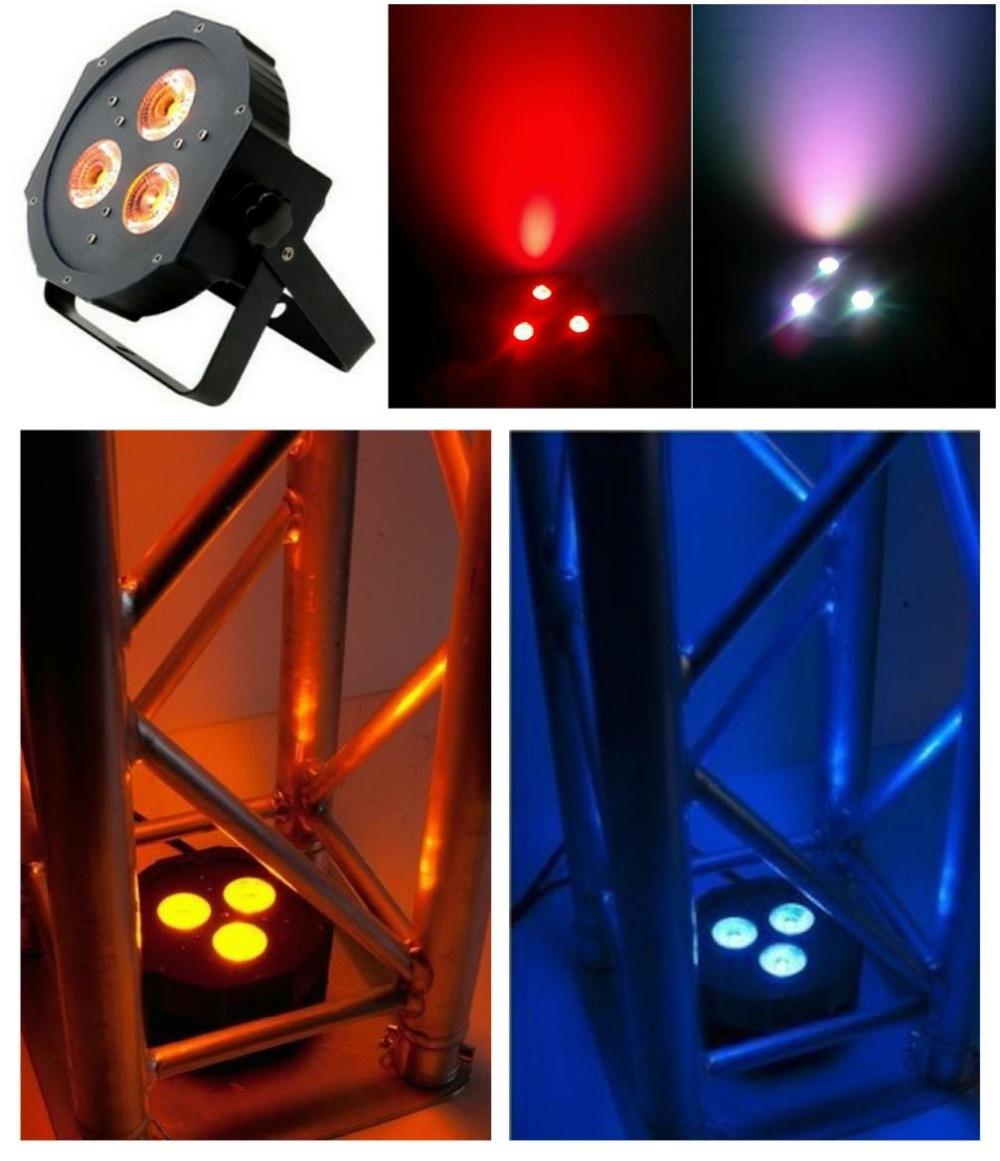 10pcs/lot, ADJ Flat Par led 3x12W RGBA / RGBW Quad 4in1 slim par36 IEC american dj dmx wedding lighting(China (Mainland))