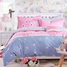 Classic Bedding Set 5 Size Grey Blue Flower Bed Linen 4pcs/set Duvet Cover Set Pastoral Bed Sheet AB Side Duvet Cover 2019 Bed(China)