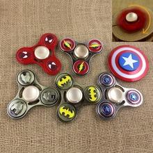 Buy Metal Fidget Spinner Ironman Spiderman Captain America Hand Spinner Finger Spinner Anti Stress ADHD Figet Spinner for $3.78 in AliExpress store