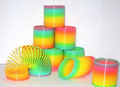 Kids Toy Large Magic Plastic Slinky Rainbow Spring 9 9cm Colorful Funny Classic Toy For Children