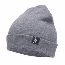 2015 Letter True Casual Beanies for Men Women Fashion Knitted Winter Hat Solid Color Hip-hop  Skullies Bonnet Unisex Cap Gorro(China (Mainland))