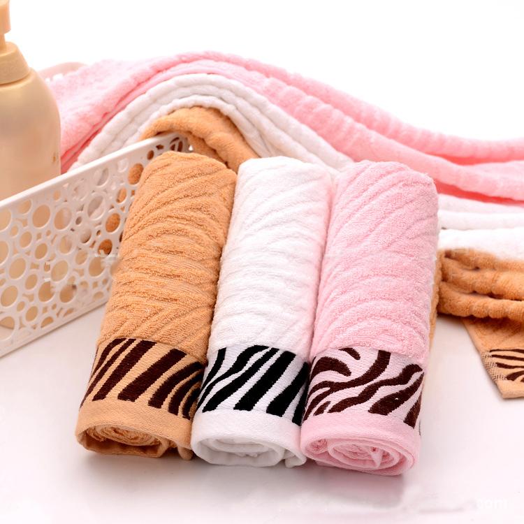 JZGH 34*76cm 4pcs Striped Organic Bamboo Face Towels Set,Terry Bathroom Bamboo Towels Set,Cotton Bamboo Fiber Face Towels,T127(China (Mainland))