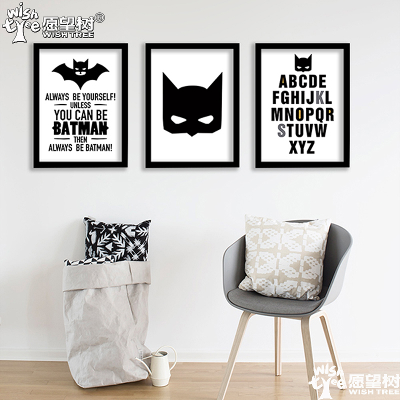 Batman Poster Wall Poster Home Decor Canvas Art Print: decorating walls with posters