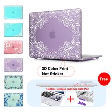 Lace Floral Fabric Matte Case For Apple Macbook Pro 13 Case Air 11 Pro 13 Retina 12 13 15 Laptop Bag For MacBook Air Pro Cover