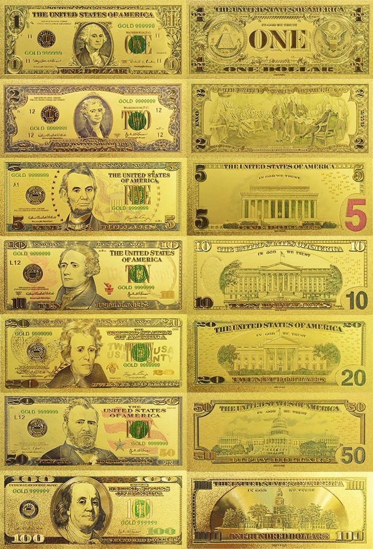 Золотые Банкноты из Китая