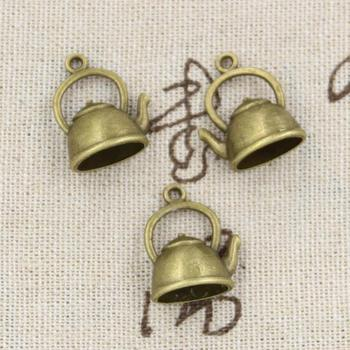 99Cents 5pcs Charms kettle teapot 20*17*10mm Antique,Zinc alloy pendant fit,Vintage Tibetan Bronze,DIY for bracelet necklace