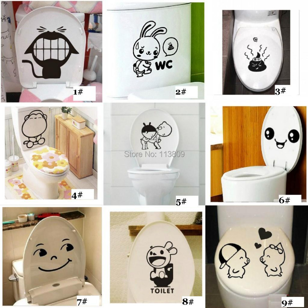 Free ship 1pcs cheap new various cute cartoon toilet for Cute cheap home decor