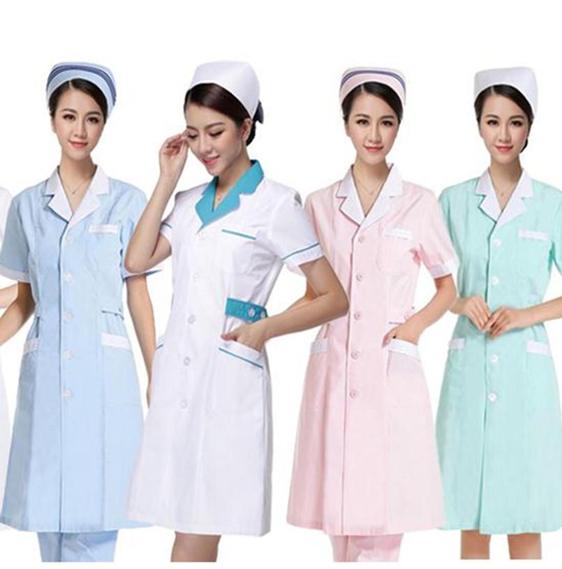 Nurse Uniform Hospital Lab Coat Korea Style Women Hospital Medical Scrub Clothes Uniform Fashion Design Breathable work wear(China (Mainland))