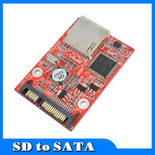 """Buy Flash MMC SD SDHC Card 7+15 SATA 2.5"""" HDD Secure Converter Adapter Windows DOS 98 XP 7 8 Vista Linux for $7.38 in AliExpress store"""
