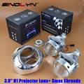 3 0 inch H1 Bixenon Headlight Projector Lens HID Headlamps Lenses With Smax Shrouds H4 H7