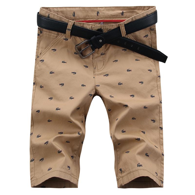 Hot Sell New 2016 Summer Casual Cotton Men's Shorts Casual Shorts Youth Color Short Pants Fashion Beach Printed