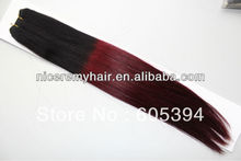 2016 hot sale ombre  two tone brazilian hair weft  5pieces/lot