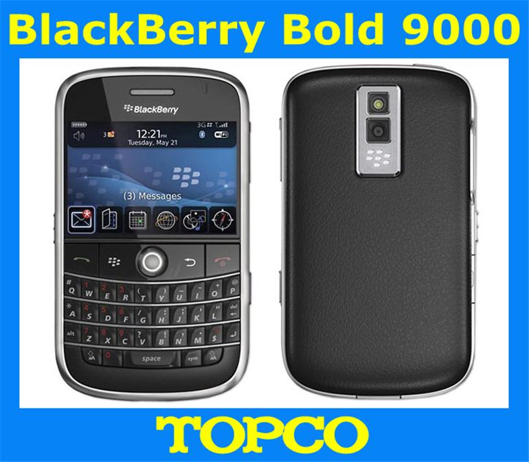 Original BlackBerry Bold 9000 unlocked mobile phone QWERTY 2MP GPS WIFI smartphone dropshipping(China (Mainland))