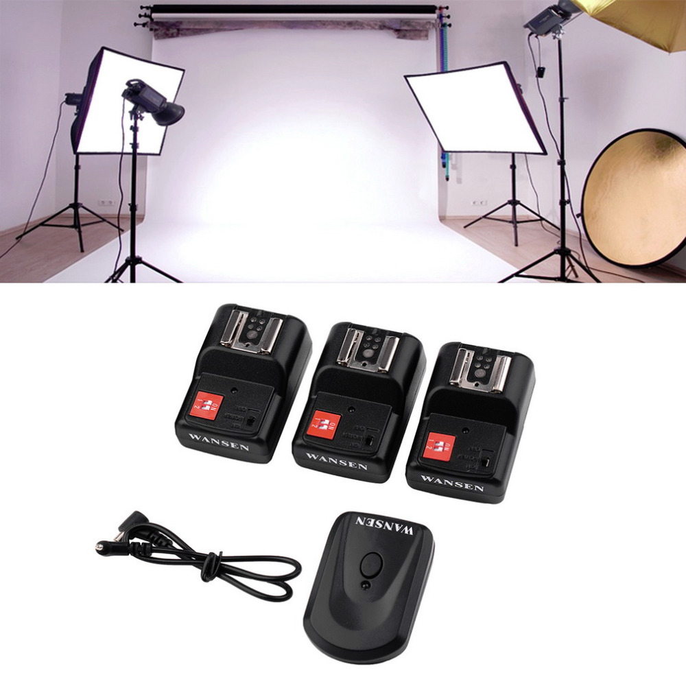 New Arrival PT-04 GY 4 Channels Wireless/Radio Flash Trigger SET with 3 Receivers Hot selling(China (Mainland))