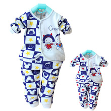 Baby Sleep Gown Autumn Cotton Boy Clothes Sleepsuit  0-12 Months Pajamas Clothes Sleepwear Long Sleeve Infant Clothing Coat Wqy(China (Mainland))