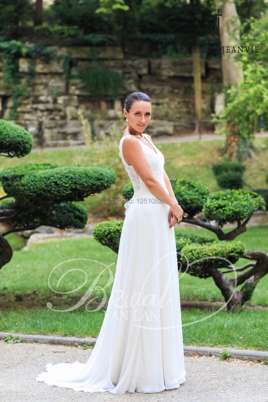 2015 Custom Made Simple Wedding Dresses Beach Wedding Dress Vestido De Noiva