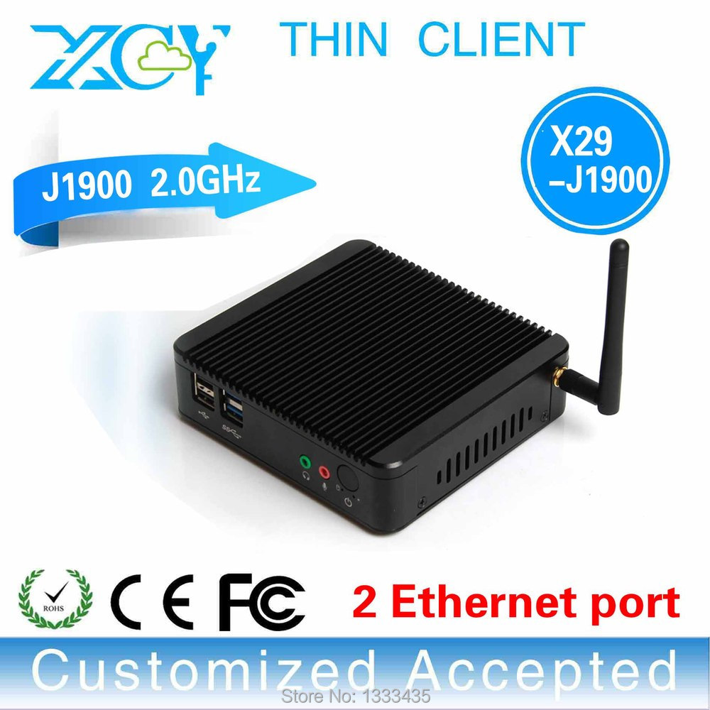 The cheapest! Fanless industrial computer latest desktop computers thin client pc win7 X29-j1900 Dual Lan Barebone OS computer(China (Mainland))