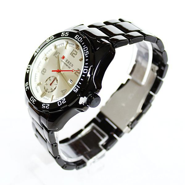 Original Brand Curren Watch Men Stainless Steel With Calendar Fashion Casual Watches Analog Quartz Water Resistant Wristwatches(China (Mainland))