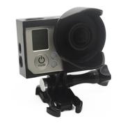 New Border Frame Housing Mount Sunshade Sunhood Protective Case Lens Hood Light Shield for GoPro HERO 3 3+ HERO 4 Free shipping