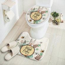 2 pçs/set Coelho Dos Desenhos Animados Banheiro Conjunto Tapete, Tapete Higiênico Confortável, Barato Tapetes de casa de Banho, Tapetes De Banho e Wc, Tapis salle de Bain(China)