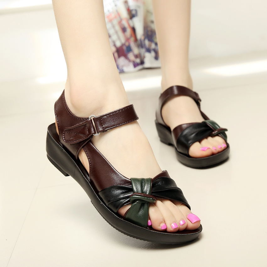 Innovative 2015 Flat Sandals For Women Ankle Strap Casual Summer Shoes Women