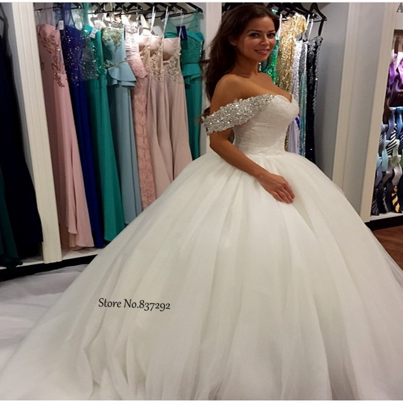 Hot selling luxury ball gown wedding dress lace off the for Selling your wedding dress