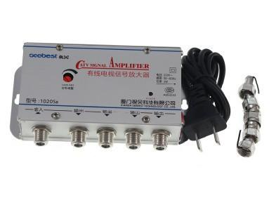 AC220V 50Hz 4 Way TV Signal Amplifier 20DB AMP Video Booster Splitter(China (Mainland))