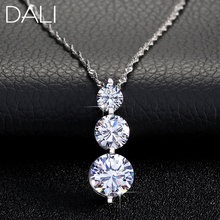 DALI 2016 New Sale Charms Austrian Zircon Pendant Necklace Round Shape Bright Crystal Platinum Plated Jewelry Wholesale DAN010(China (Mainland))