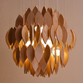 High End Modern Nordic Creative Original Ash Wood Led Pendant Light For Living Room Dining Room