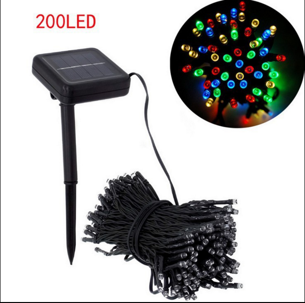 220cm 200 led Solar Lamps Power LED String Garlands Lights Solar Garden Christmas Lights Holiday Outdoor Fairy Lights Waterproof(China (Mainland))