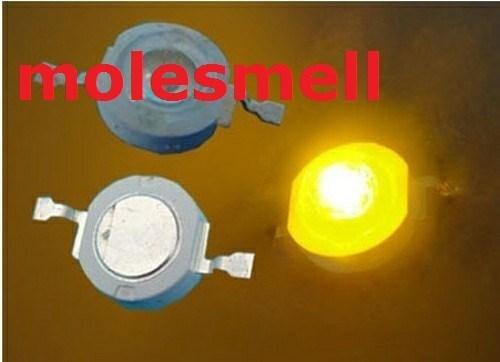 Free shipping 100pcs 3W 3watt Yellow High Power 3W yellow LED Lamp Light ultra Bright 3w yellow led beads