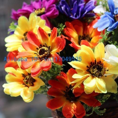 1 pcs Bouquet Beautiful Artificial Chrysanthemum Silk Flowers 4 Colors Avalable F54