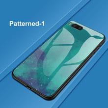 Funda de teléfono de vidrio templado colorido para Huawei P30 P10 P20 Lite Mate 10 20 Pro Nova 2 2i 3 3i honor 10 8 9 Lite 8X 7C cubierta Coque(China)