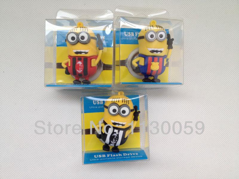 100% real capacity Minions USB 8GB 16GB 32GB 2.0 memory flash stick drive pen USB flash drive N3(China (Mainland))