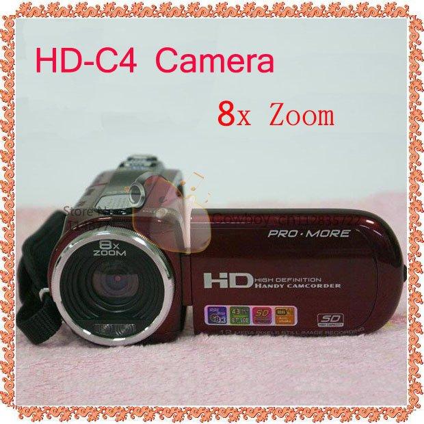 Cheap DV HD-C4 12MP 8X Zoom 2.7 TFT LCD Screen Digital Camera(China (Mainland))