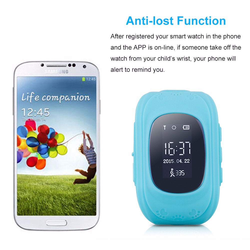 2016 New Smart Kids GPS Watch with GPS/GSM/Wifi Triple Positioning Monitoring Dual-way Call SOS Alarm Watch