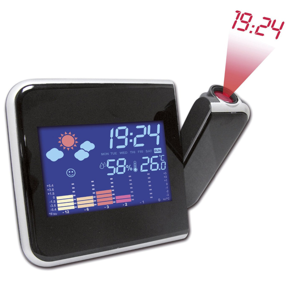 Brand New Projection Weather Lcd Digital Alarm Clock