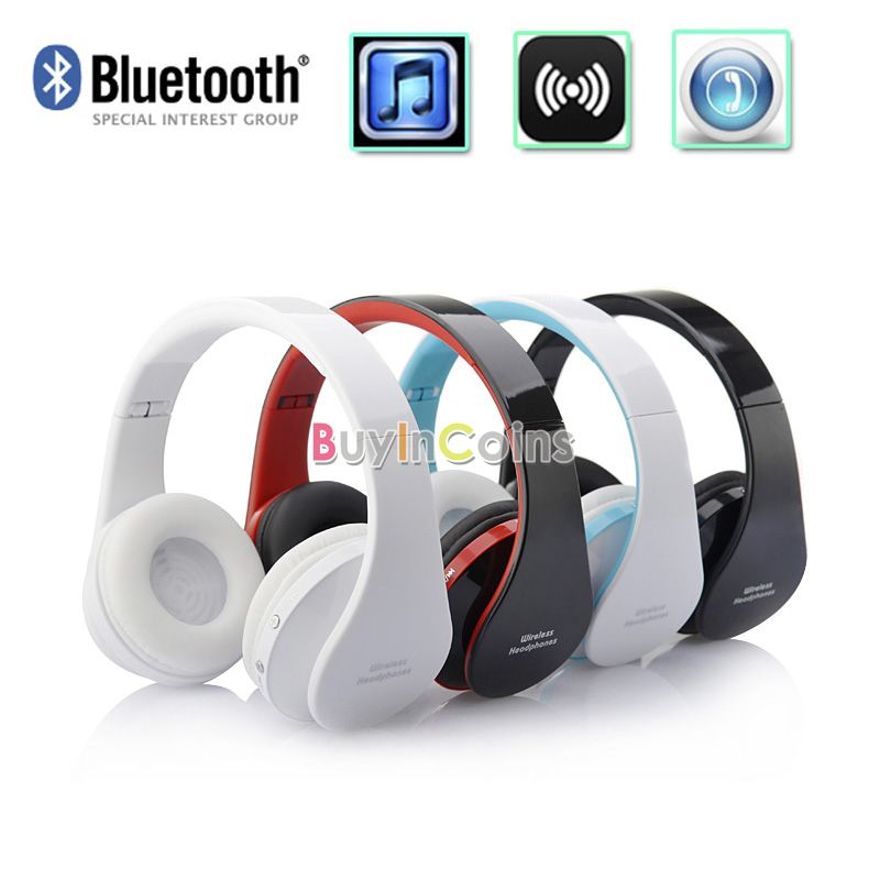 High Quality New Wireless Bluetooth Headset Headphone Stereo Foldable with Microphone for iPhone HTC Galaxy #81337(China (Mainland))