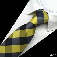 Ricnais 1200 иглы качество 100% шёлковые мужские галстуки клетчатые полосатые галстуки для мужчин Классическая одежда Бизнес Свадебная вечеринка ...(China)